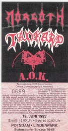 Morgoth Tankard Tiamat AOK 1993