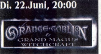 Orange Goblin Grand Magus Witchcraft 2004