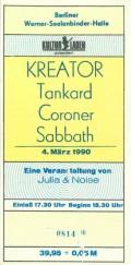 Ticket_Kreator Tankard Coroner Sabbath_Werner-Seelenbinder-Halle 1990